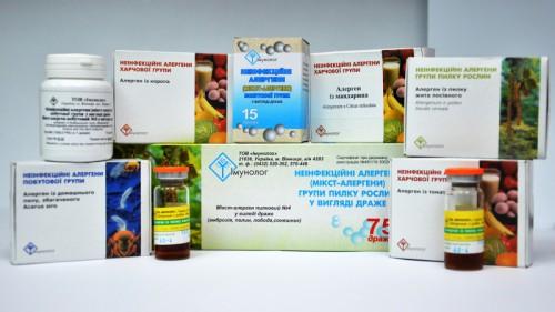 Препарати алергенів